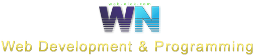 web-nick.com. Web development & Programming. Nick Useek